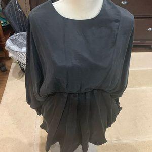 NWT Zara elastic waist long sleeve dress
